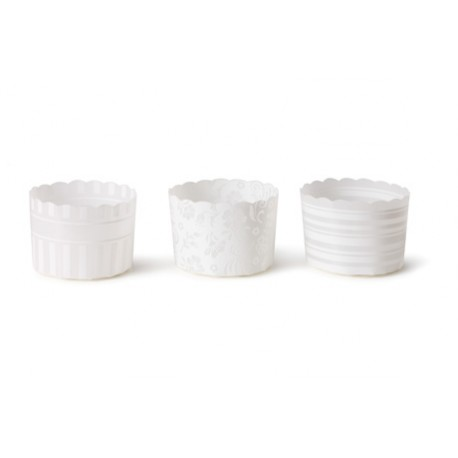 Pirottini per Muffin Bianchi Baking cups