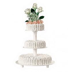Alzata torta 3 piani (plastica)