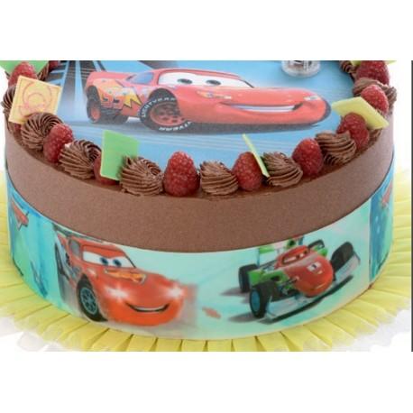 Bordo Torta Pasta di zucchero Cars 3 x 30 cm