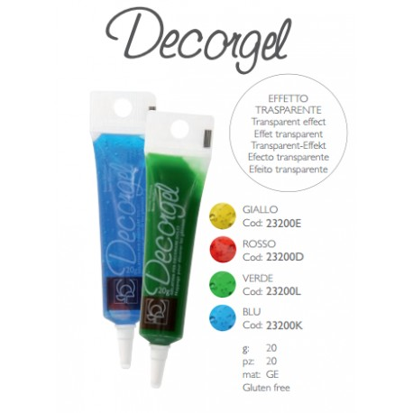 Gelatina Alimentare Neutra Decorgel vari colori