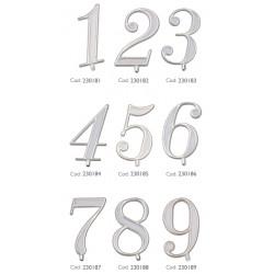 10 Numeri in plastica per torte Oro