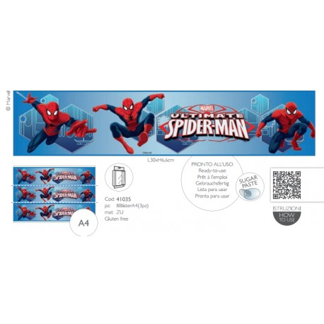 Girotorta Spiderman in Pasta di Zucchero