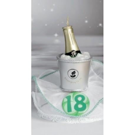 Candela 18 anni con Coccarda e Champagne