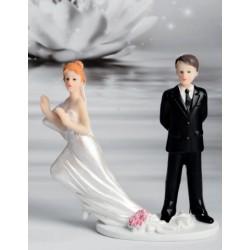 Cake Topper sposa che fugge