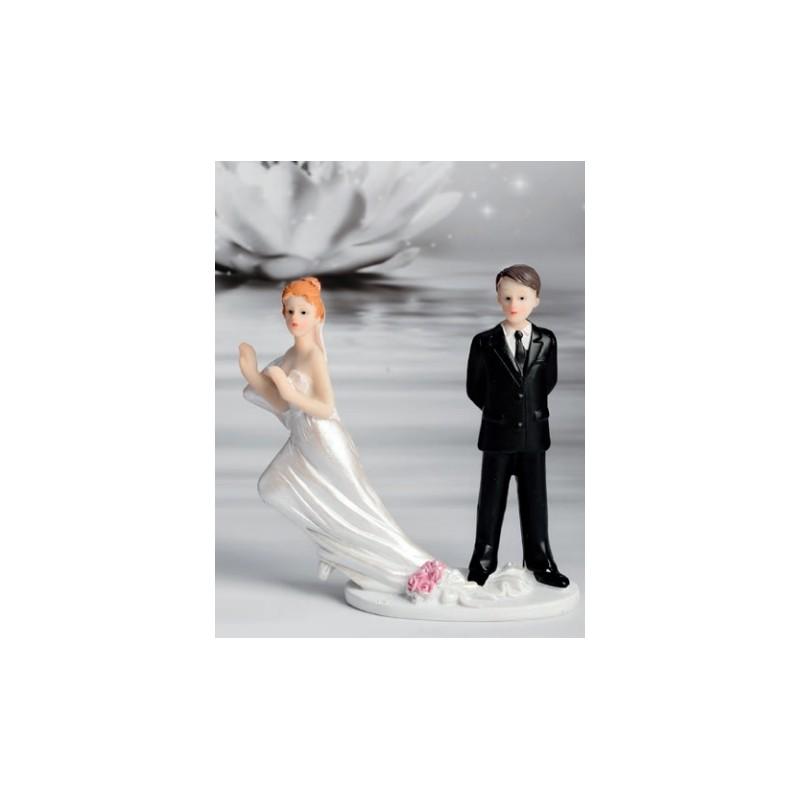 Cake topper sposa che fugge via in porcellana for Sposa che corre