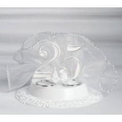 Cake Topper Anniversario 25° Fedi Oro