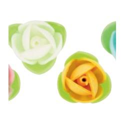 Rose in Ostia Colorate con foglioline pz 180
