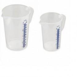 Caraffa Graduata trasparente in plastica