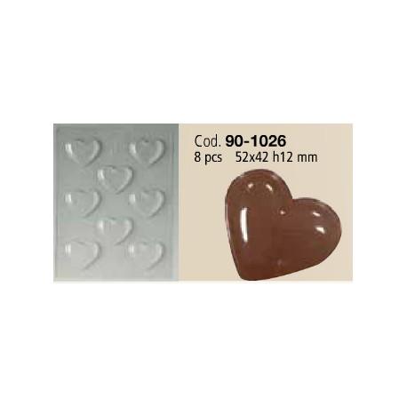 Stampo Cioccolatini a Cuore 8 pezzi