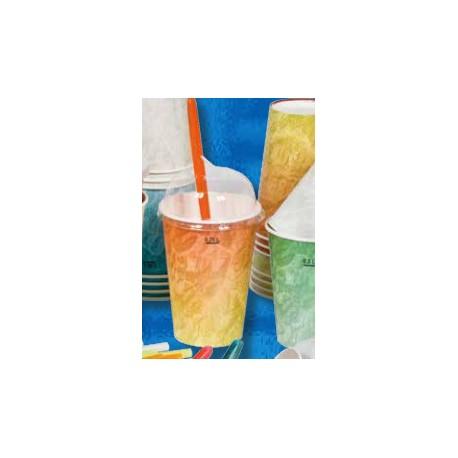 Bicchiere di Carta per Bibite Arancione