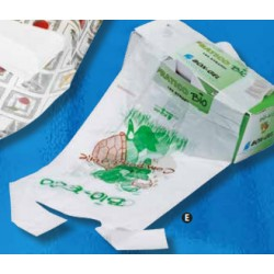 150 Sacchetti di Plastica Bio in Rotolo