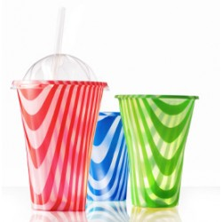 Coperchio per Bicchieri Bibita colorati Drink Mix