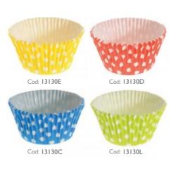 Pirottini per Muffin Pois vari colori