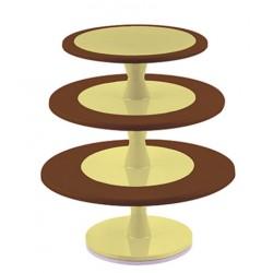 Alzata per Torte Hula Up vari colori 3 Piani