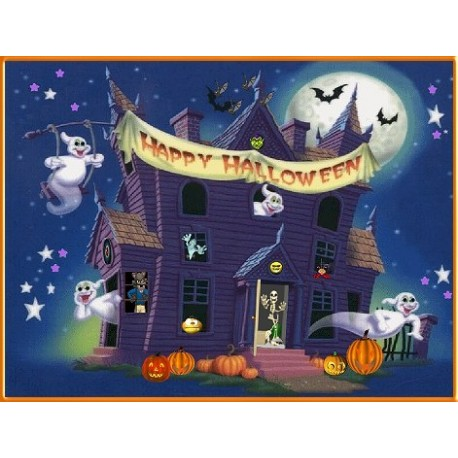 Cialda Halloween A4 Rettangolare per torte