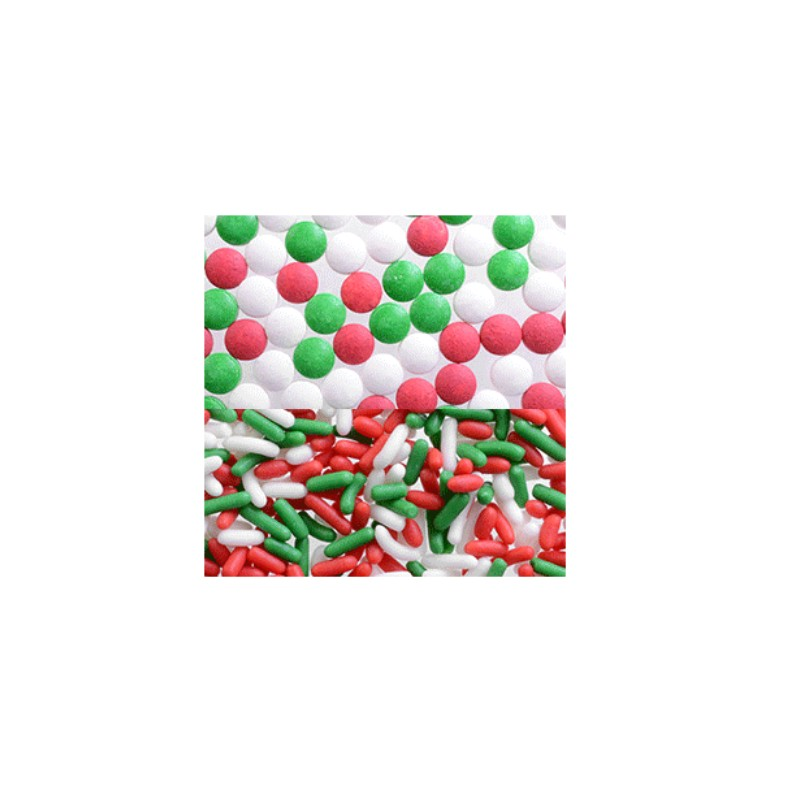 Decorazioni di zucchero assortite natalizie - Decorazioni torte natalizie ...