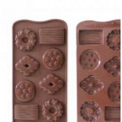 Stampi silicone Cioccolatini a forma di Biscotto
