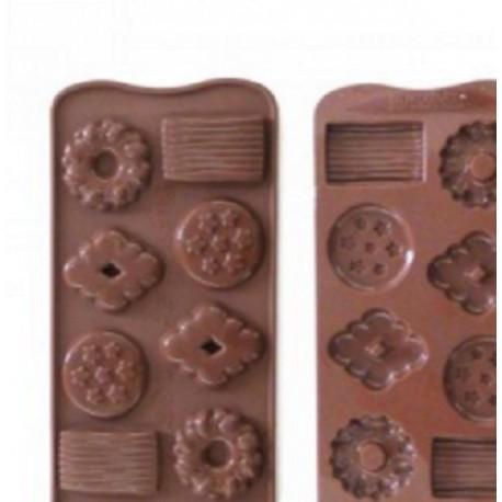 Stampi silicone per cioccolatini Biscotto