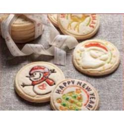 Timbro per Biscotti Natalizio Omino e Merry Christmas