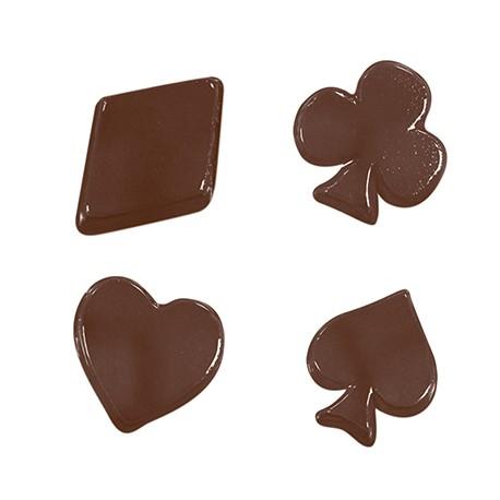 Stampo cioccolatini Semi Carte da gioco