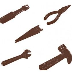Stampo cioccolatini a forma di Attrezzi da lavoro