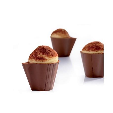 Stampo Bicchierini di Cioccolato Choco Fill