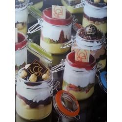 Vasetto in Vetro Tondo per dolci e conserve