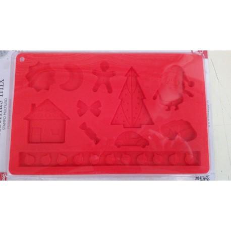 Stampo Natalizio in silicone vari soggetti