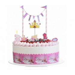 Kit per torte con Topper e bordura Principesse