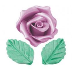 Kit Rosa pasta di zucchero e 2 foglie Modellabili