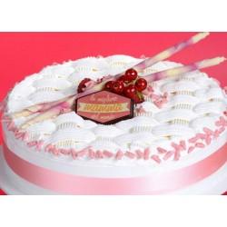Bastoncini Rosa di Cioccolato Bianco
