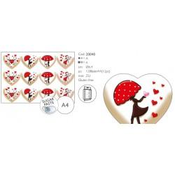 Cialdine San Valentino per Biscotti