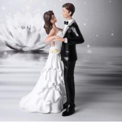 Topper Sposi eleganti con fiori