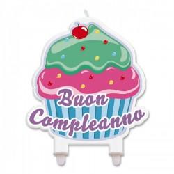 5 Candeline per torte a forma di Cupcake