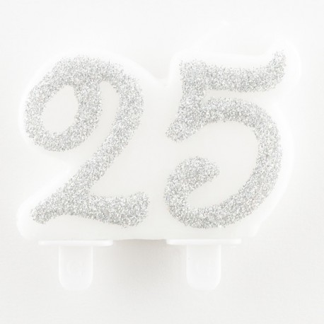 Candele 25 esimo Anniversario