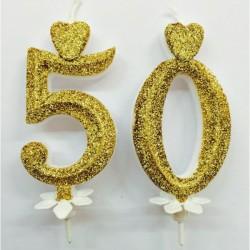 Candela numero 50 per torte