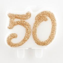 Candelina 50 Glitter Oro