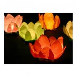 Candela Fiore di Loto illuminato galleggiante 6pz