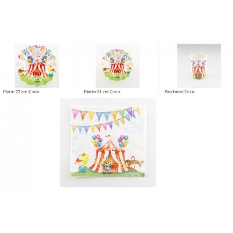 Circo Coordinati tavola per feste a tema