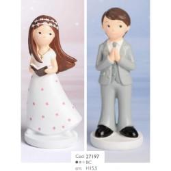 Cake Topper per Comunione Maschio e Femmina
