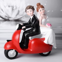 Cake topper Sposi in vespa