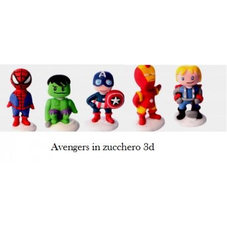 Avengers 3D Capitan America, Thor, Iron Man Hulk e Uomo Ragno