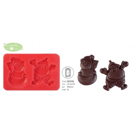 Stampo 3d Pupazzo di neve