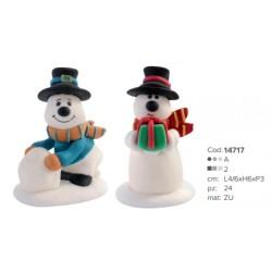 Omini di neve con cappello di zucchero per decorazioni