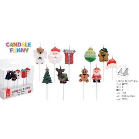 Candeline in set da 5 pezzi di Natale
