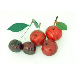 Foglie per ciliegia di martorana con due gambi