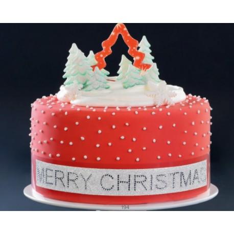 Nastro per torte adesivo Buon Natale