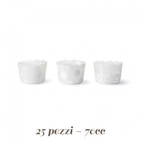 Pirottini Mini cupcake /muffin Bianchi