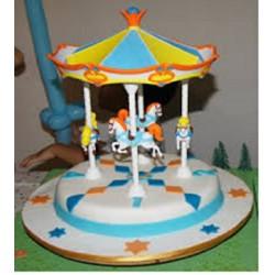 Giostra in cartone per torte