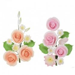 Ramo di Fiori di Zucchero elegante con 3 rose